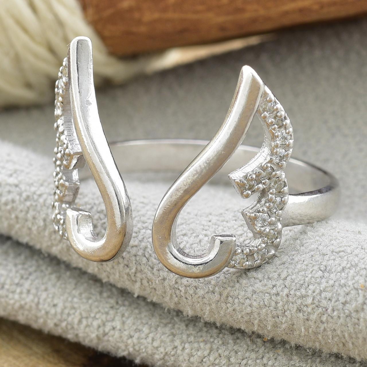 Серебряное кольцо Крылья ангела вес 2.16 г размер 18