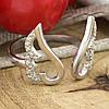 Серебряное кольцо Крылья ангела вес 2.16 г размер 18, фото 4