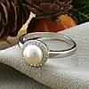 Серебряное кольцо ТС9510291б вставка белые фианиты вес 2.65 г размер 18.5, фото 2