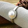 Серебряное кольцо ТС9510291б вставка белые фианиты вес 2.65 г размер 18.5, фото 3
