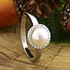 Серебряное кольцо ТС9510291б вставка белые фианиты вес 2.65 г размер 18.5, фото 4
