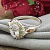 Серебряное кольцо с золотом Асти вставка белые фианиты вес 3.54 г размер 16, фото 4