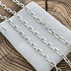 Серебряная цепочка Якорная длина 55 см ширина 5 мм вес 25.7 г