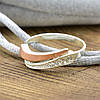 Серебряное кольцо с золотом Кипарис вставка белые фианиты вес 1.9 г размер 17.5, фото 3