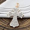 Крестик Xuping для цепочки до 3 мм 71170 размер 40x25 мм вес 4.1 г белые фианиты позолота 18К, фото 2