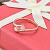 Кольцо Xuping 14729 размер 21 ширина 5 мм вес 1.4 г белые фианиты позолота РО, фото 2