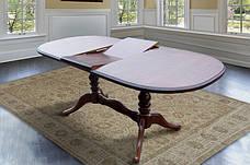 Стол овальный раскладной Вавилон Микс мебель, цвет темный орех / орех итальянский, фото 2