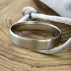 Кольцо обручальное Xuping 14783 ширина 5 мм позолота Белое Золото размер 24