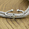 Серебряное кольцо на фалангу с крестиком вставка белый фианит вес 0.6 г, фото 3
