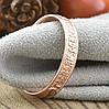 Кольцо Xuping Спаси и Сохрани 15176 размер 21 ширина 4 мм вес 1.6 г позолота РО, фото 3