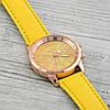 Часы G-012 диаметр циферблата 4 см, длина ремешка 17-21 см, ярко-желтый цвет, позолота РО, фото 3