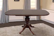 Стол обеденный раскладной прямоугольный на одной ножке  Триумф Микс мебель, цвет орех / темный орех / венге, фото 2