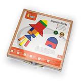 Набор магнитных блоков Viga Toys Формы и цвета (59687), фото 3
