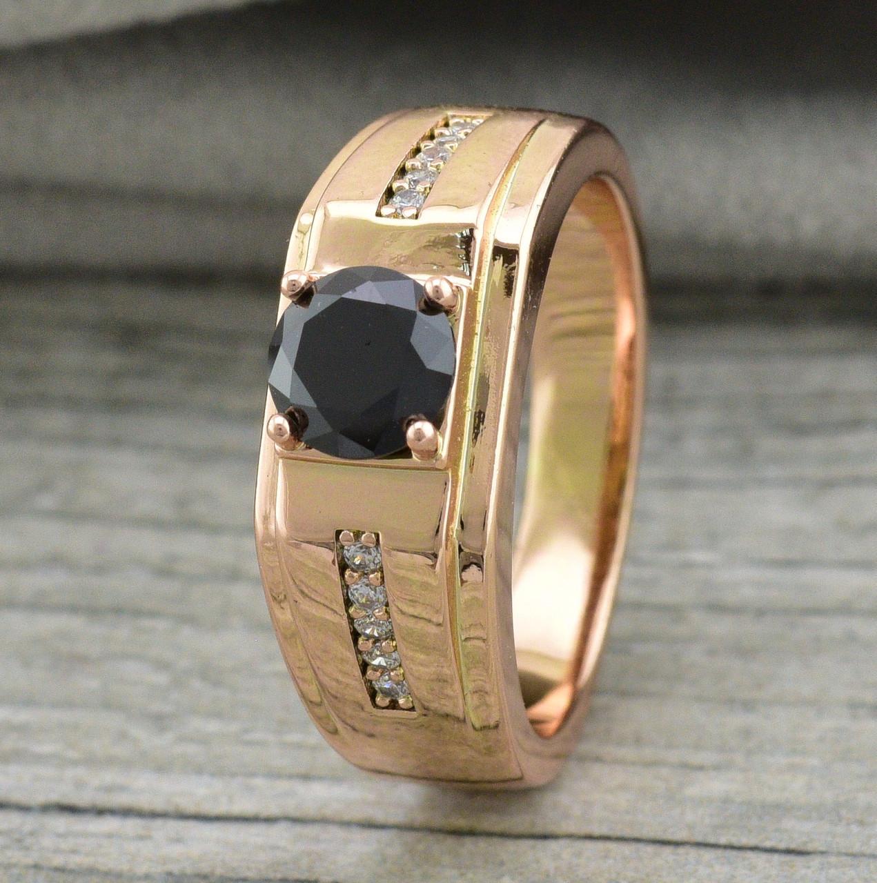 Кольцо Xuping 11624 размер 21 ширина 8 мм чёрные фианиты вес 5.4 г позолота РО