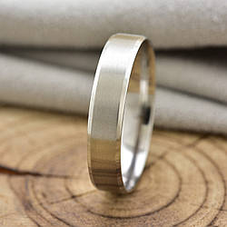 Кольцо обручальное Xuping 14783 ширина 5 мм позолота Белое Золото размер 23