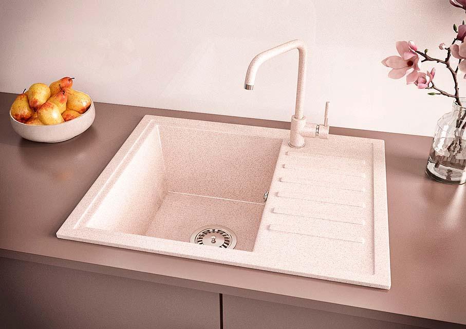 Кухонна мийка VALENTINA Gr Master авена+кран