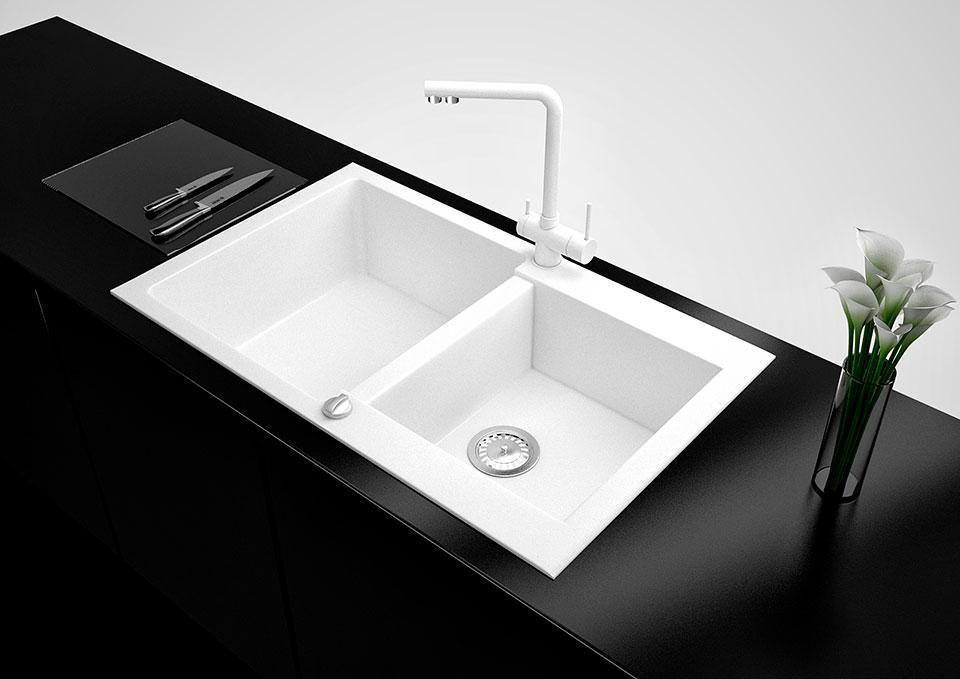 Кухонна мийка VALENTINA Gr Florina білий