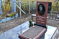Памятник гранитный Лезники и благоустройство, гранитная плитка габбро
