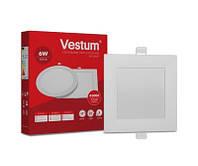 Світильник Led квадратний 117х117 мм, врізний Vestum 6W 4000K 220V 1-VS-5202, фото 1