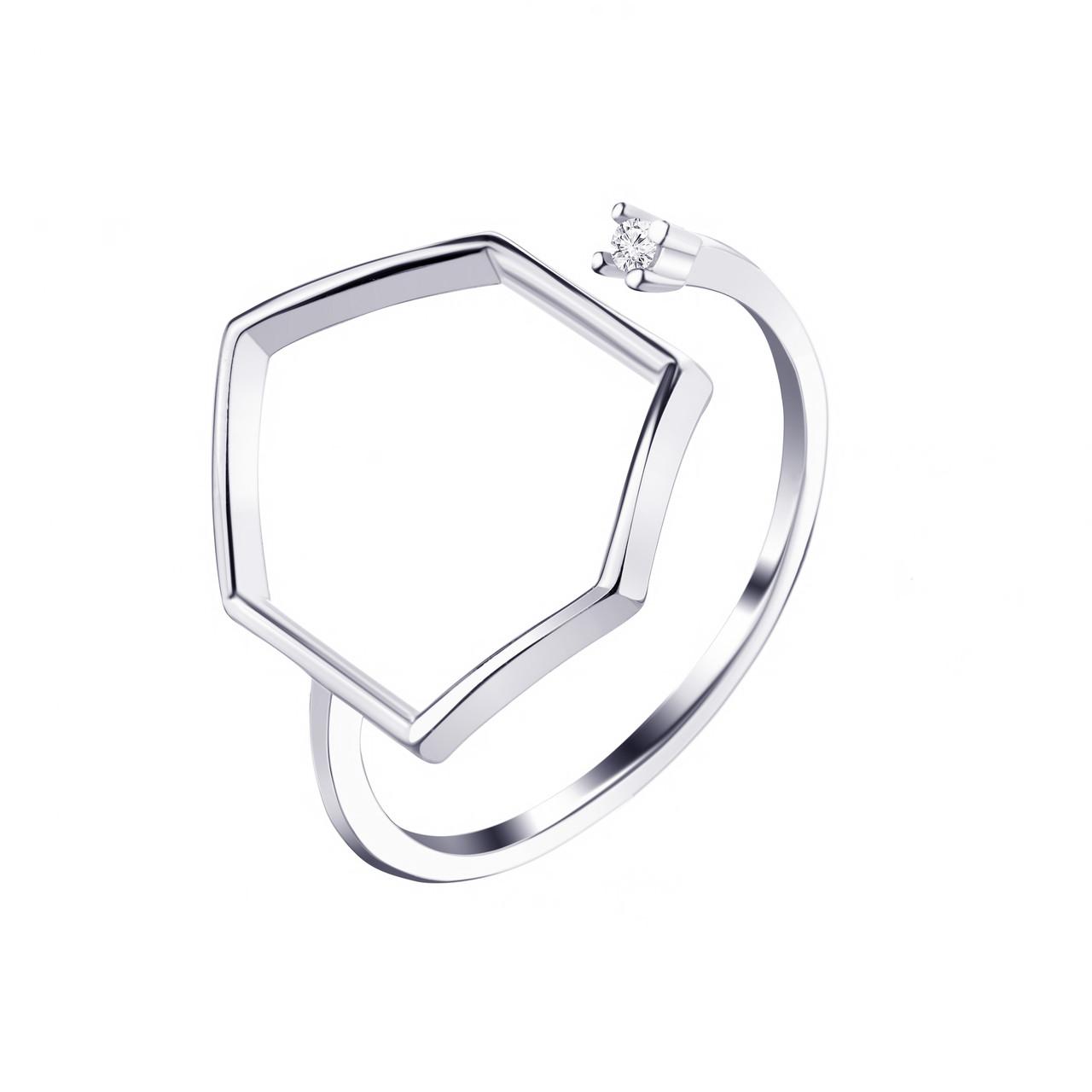 Серебряное кольцо с фианитом К2Ф/1071-19