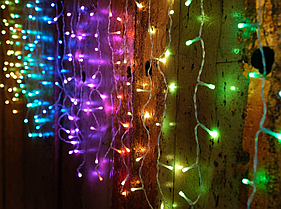 Гирлянда Smart новогодняя штора Icicle gold   5x0.8м