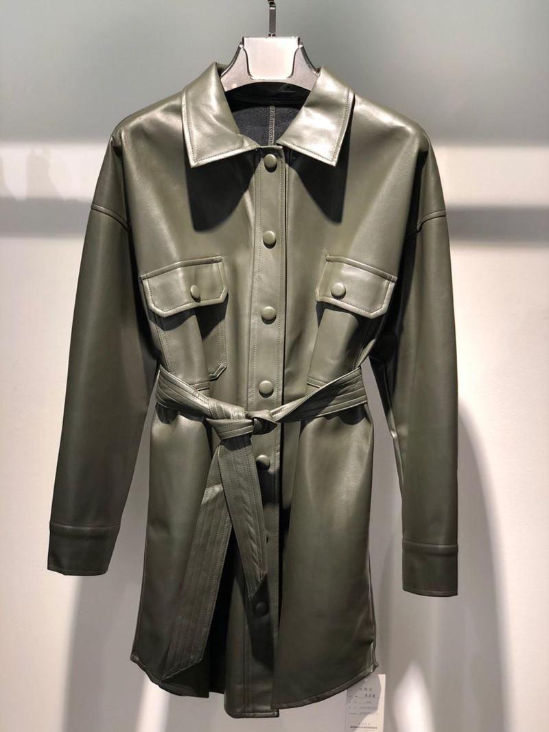 Туника-рубашка из экокожи