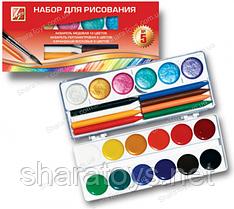 Набор для рисования медовая акварель и восковые карандаши