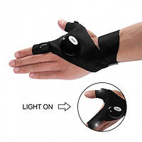 Перчатка с подсветкой на пальцах DreamTon Перчатка со светодиодами в Украине