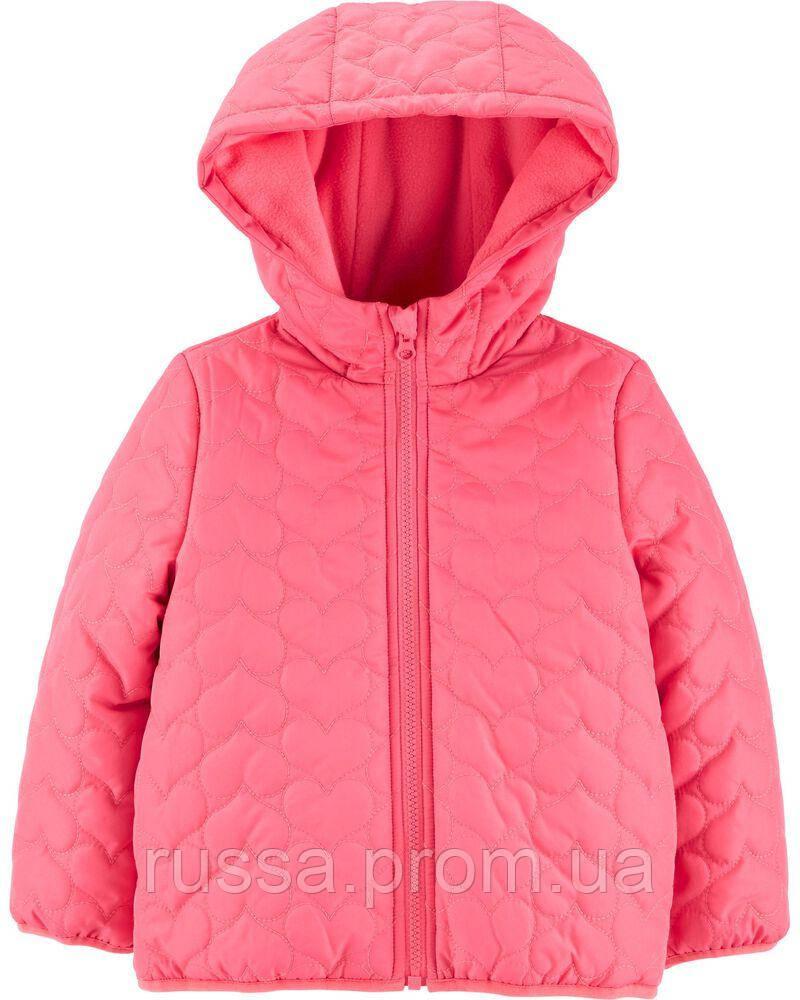 Зимняя детская курточка розового цвета Картерс для девочки