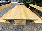 Садовая мебель из массива дерева 2000х800 от производителя для дачи, пабов, комплект Furniture set - 10, фото 10