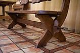 Лавочка скамья со спинкой из термодерева 1670х340 мм. от производителя Thermo-treated Oak bench 02, фото 10