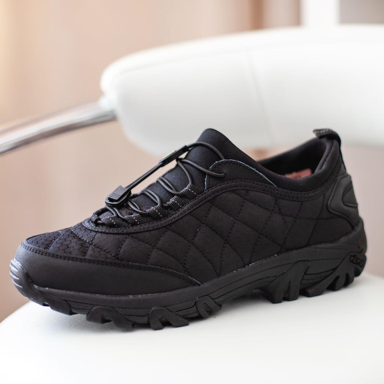 Мужские кроссовки Merrell Vibram Black / Мэррелл Вибрам Чернные Термо