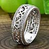 Серебряное кольцо Украиночка вставка белые фианиты вес 3.9 г размер 17.5, фото 3