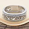 Серебряное кольцо Украиночка вставка белые фианиты вес 3.9 г размер 20.5, фото 3