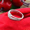 Серебряное кольцо Пассаж вставка белые фианиты вес 1.89 г размер 17.5, фото 3