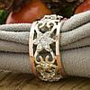 Серебряное кольцо с золотом Велюр вставка белые фианиты вес 6.46 г размер 19, фото 3