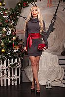 Платье-туника  мод 233-3 размер 44 серое