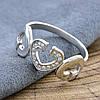 Серебряное кольцо Симфония любви вставка белые фианиты вес 2.58 г размер 16, фото 7
