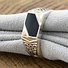 Серебряная печатка с золотом Аполлон вставка оникс вес 4.9 г размер 20, фото 5