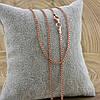 Серебряная цепочка позолоченная Панцирная длина 45 см ширина 1.5 мм вес 3.2 г, фото 3