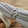 Серебряное кольцо Влюблённые сердца вставка белые фианиты вес 1.4 г размер 18.5, фото 2