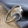 Серебряное кольцо Рассвет, вставка белые фианиты, вес 2.4 г, размер 22, фото 7