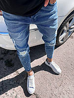 Мужские джинсы молодежные узкие потертые Турция СММ 6117-3468