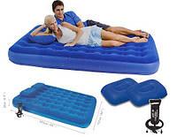 """Двуспальный ортопедический матрас с подушками и насосом """"BestWay 67374"""""""