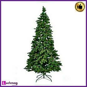 "Штучна ялинка ""Різдвяна з шишками"" зелена 2,2 м"