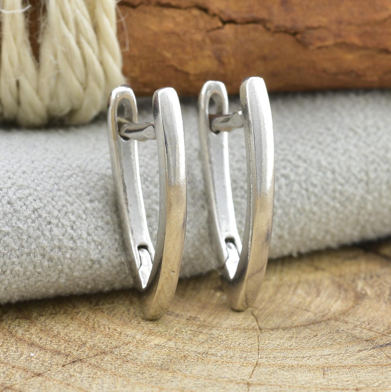 Серебряные серьги Стрелки размер 18х2 мм вес 2.37 г