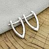 Серебряные серьги Стрелки размер 18х2 мм вес 2.37 г, фото 2