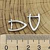 Серебряные серьги Стрелки размер 18х2 мм вес 2.37 г, фото 3