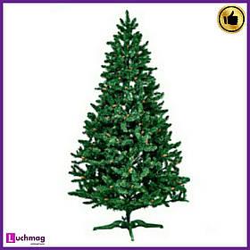 """Штучна ялинка """"Різдвяний"""" ПВХ, з шишками, зелена 1,8 м"""
