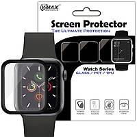 Противоударная анти-бликовая защитная пленка VMAX 3D Full Glue NEW для Apple watch 40mm Прозрачный / Черный